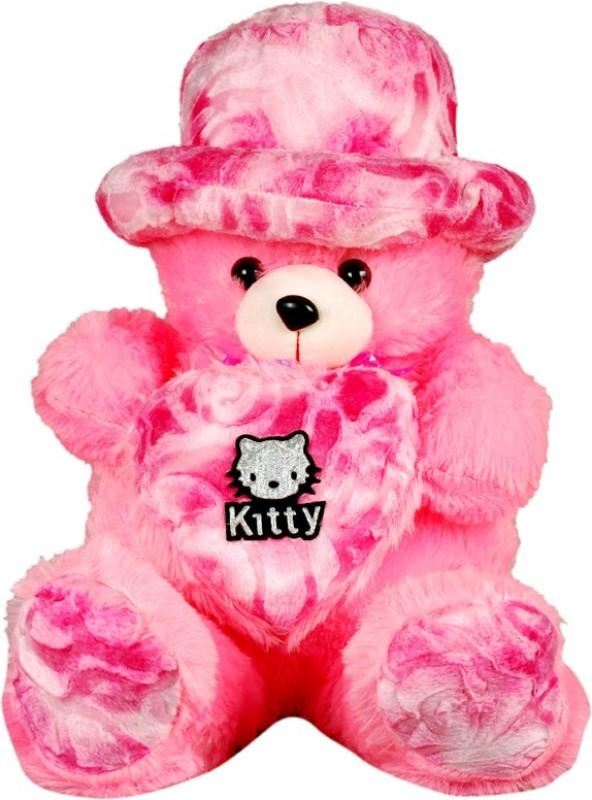 Montez Cute Heart Teddy Bear - 61 cm(pink)