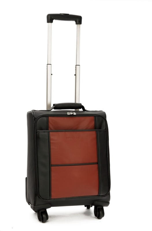 Mboss ONT_083_BLACK_TAN Cabin Luggage - 6.5 inch(Black)