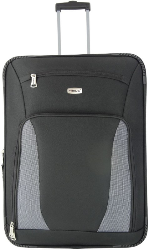 Timus Morocco Upright Expandable Check-in Luggage - 25 inch(Black)