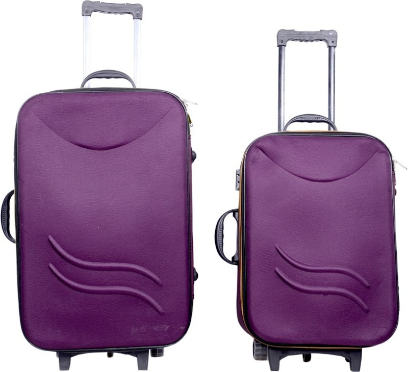 Sk Bags Hkg klick 20+24 storly set Expandable Check-in Luggage - 24 inch(Purple)