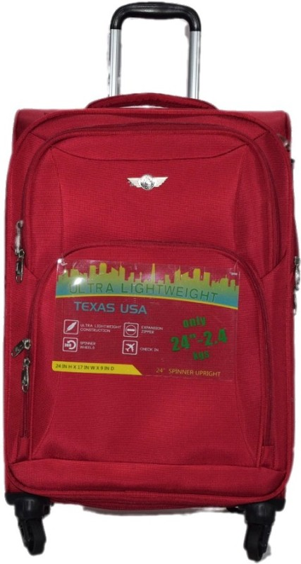 Texas USA 1209 Expandable Cabin Luggage - 20 inch(Maroon)