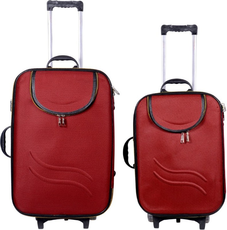 Sk Bags Hkg Ranger 20+24 Trolly Set Check-in Luggage - 24 inch(Red)