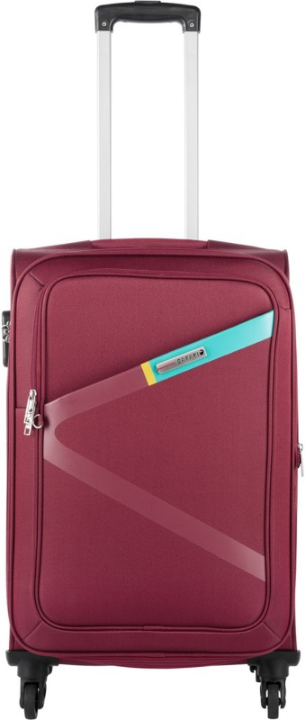 Safari Greater Expandable Cabin Luggage - 21 inch(Red)