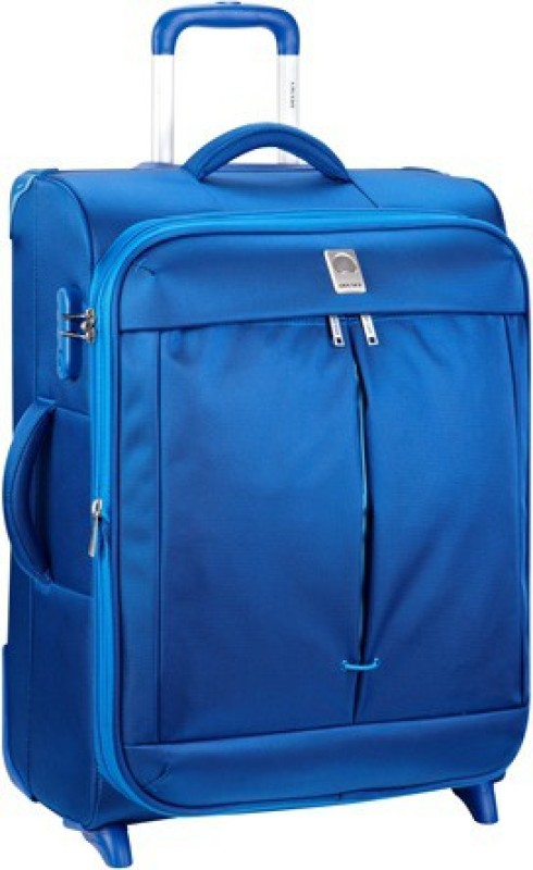 Delsey Flight Expandable Check-in Luggage - 26 inch(Blue)