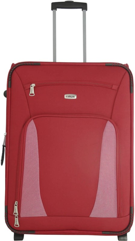Timus Morocco Upright Expandable Check-in Luggage - 25 inch(Red)