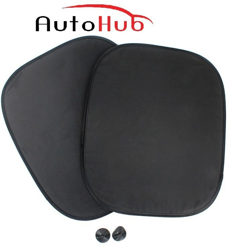 Auto Hub Side Window Sun Shade For Ford Endeavour(Black)