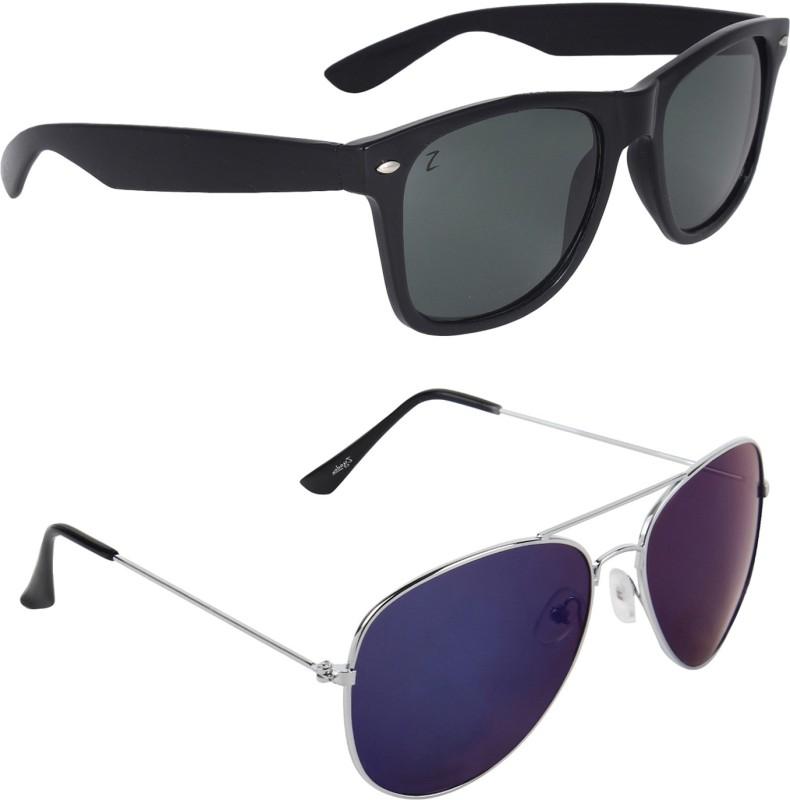 Zyaden Wayfarer, Aviator Sunglasses(Multicolor)