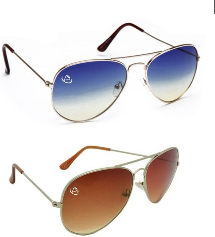 Aventus Aviator Sunglasses(Blue, Red)