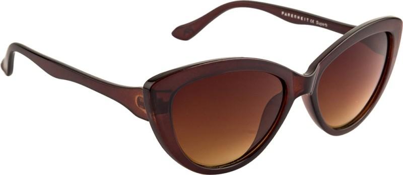 Farenheit Cat-eye Sunglasses(Brown) image