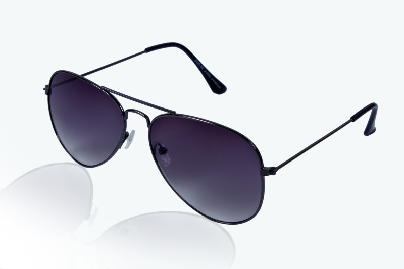 Glitters Aviator Sunglasses(Grey) image.