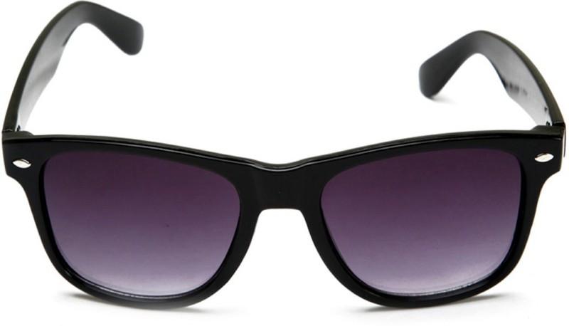 Ansh Fashion Wear Wayfarer Sunglasses(Violet, Black) image