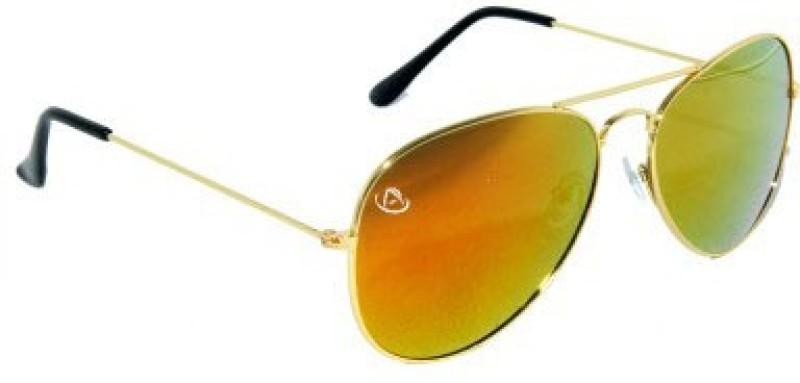 Aventus Aviator Sunglasses(Brown, Black)