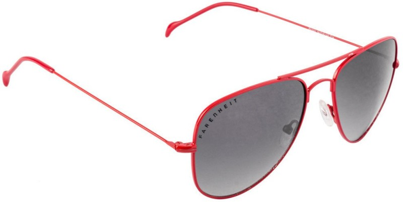 Farenheit Aviator Sunglasses(Black) image