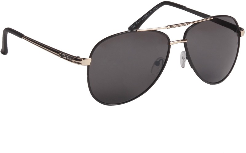 Ted Smith Aviator Sunglasses(Grey) image