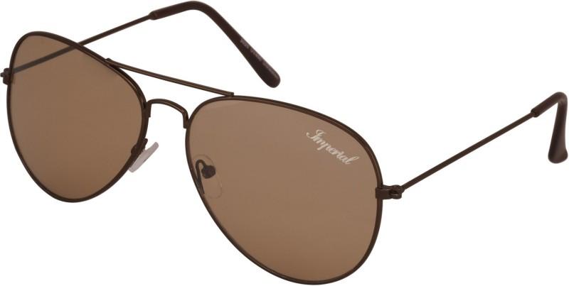 Imperial Club Aviator Sunglasses(Brown)