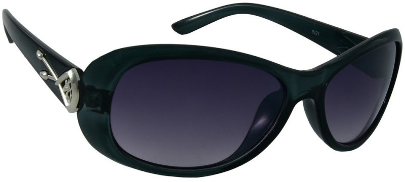 Red Knot Oval Sunglasses(Black) image