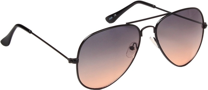 Ted Smith Aviator Sunglasses(Grey, Brown) image