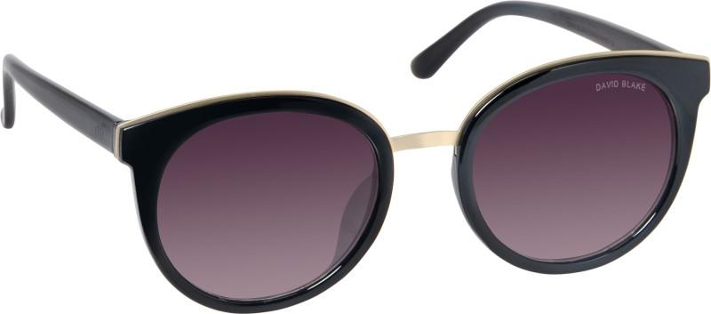 David Blake Round Sunglasses(Black) image
