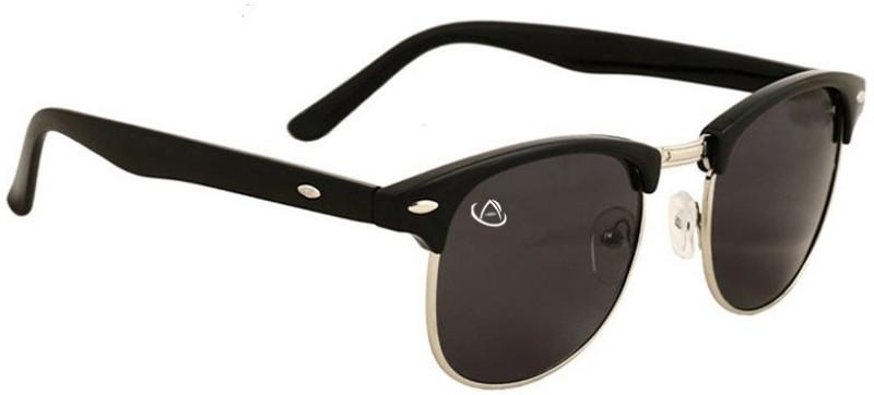Aventus Rectangular, Wayfarer, Oval Sunglasses(Black)