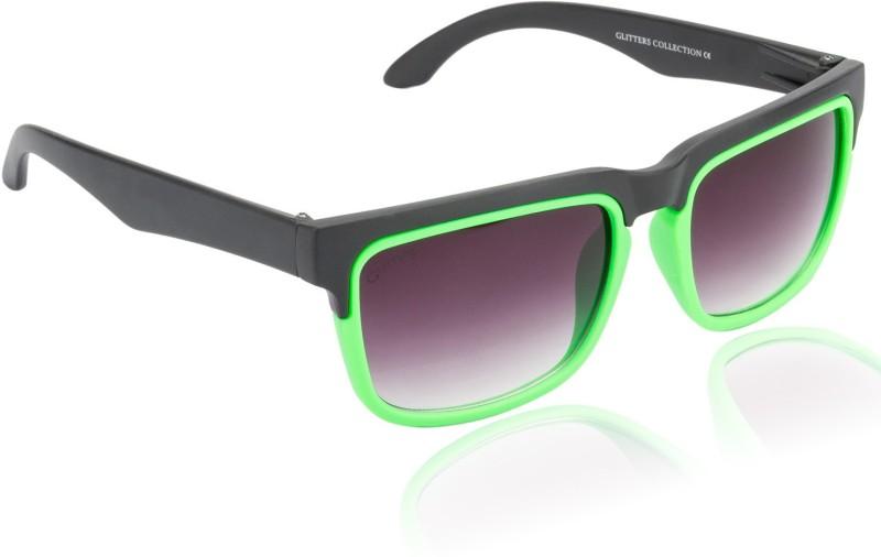 Glitters Over-sized Sunglasses(Black) image