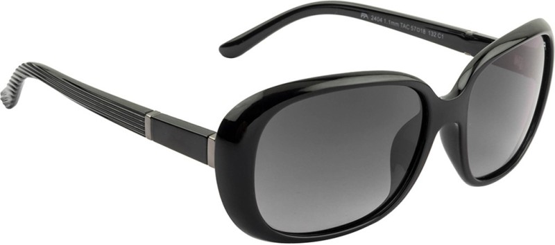 Farenheit Rectangular Sunglasses(Black) image