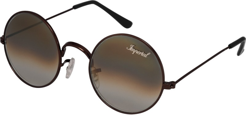 Imperial Club Round Sunglasses(Brown)