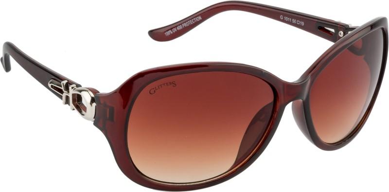 Glitters Rectangular Sunglasses(Brown) image