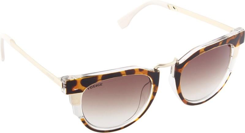 Voyage Cat-eye Sunglasses(Brown) image