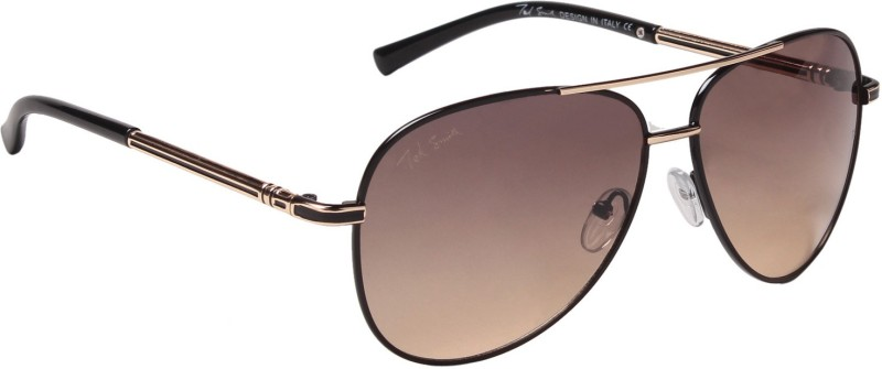 Ted Smith Aviator Sunglasses(Brown) image