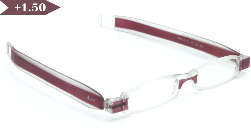 40 XPLUS Rectangular Sunglasses(Clear)