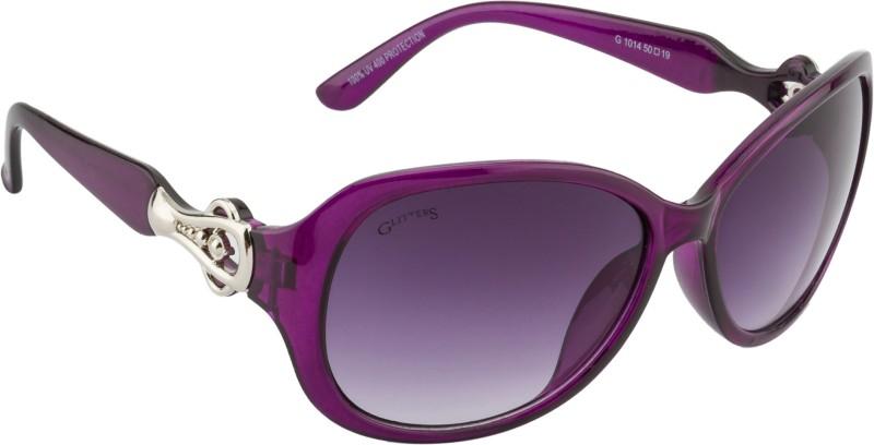 Glitters Rectangular Sunglasses(Violet) image