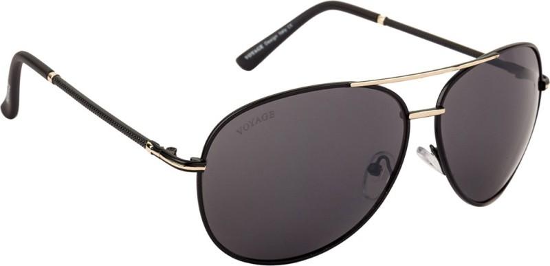 Voyage Aviator Sunglasses(Black) image