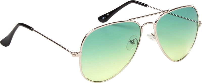 Ted Smith Aviator Sunglasses(Green) image