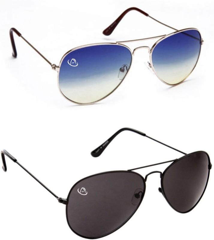 Aventus Aviator Sunglasses(Blue, Black)