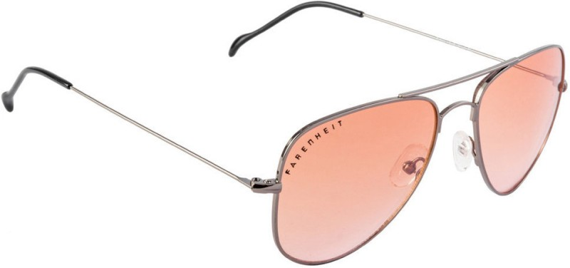 Farenheit Aviator Sunglasses(Orange) image