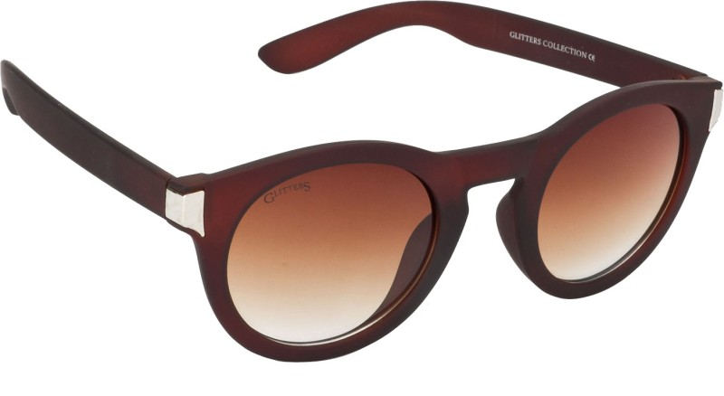 Glitters Round Sunglasses(Brown) image