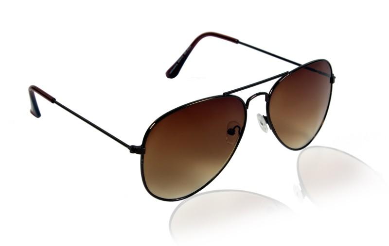 Glitters Aviator Sunglasses(Brown) image