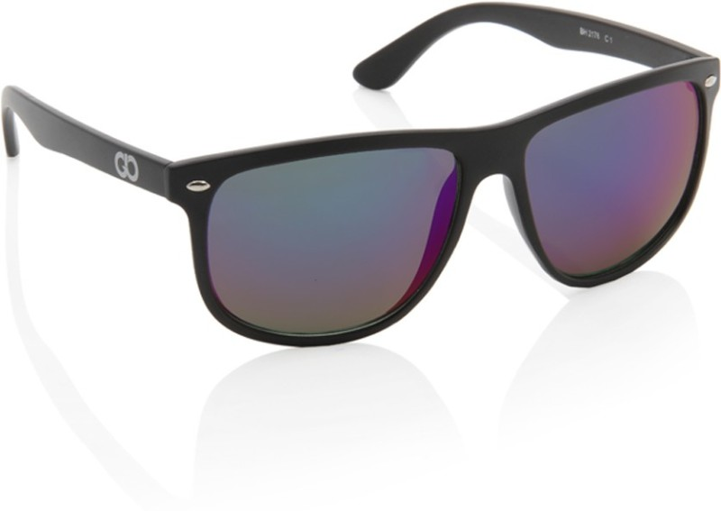 Gio Collection Rectangular Sunglasses(Blue) image