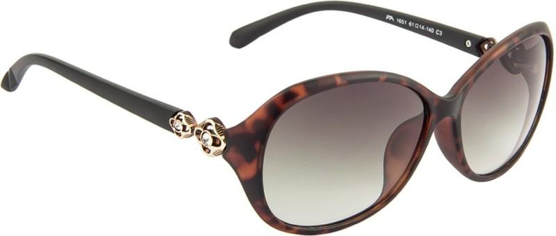 Farenheit Oval Sunglasses(Green) image