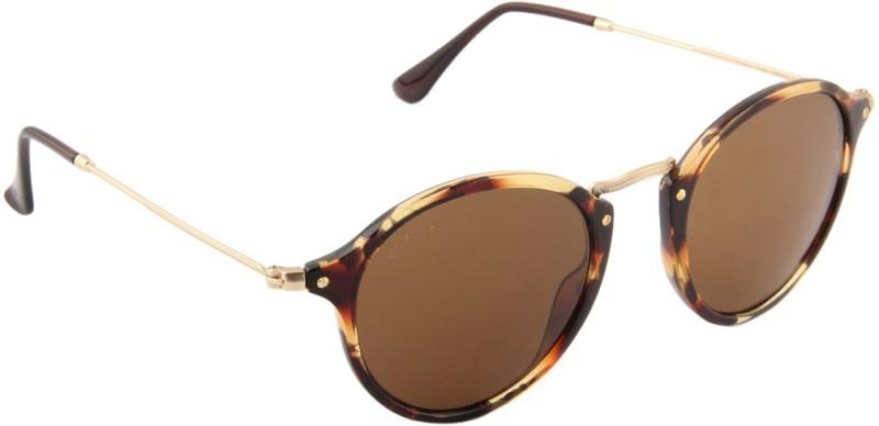 Voyage Round Sunglasses(Brown) image