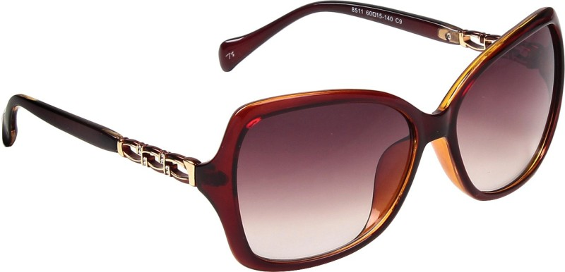 Ted Smith Cat-eye Sunglasses(Brown) image