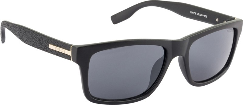 Voyage Rectangular Sunglasses(Black) image