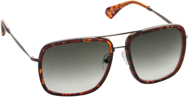 Djorn Rectangular Sunglasses(Brown)