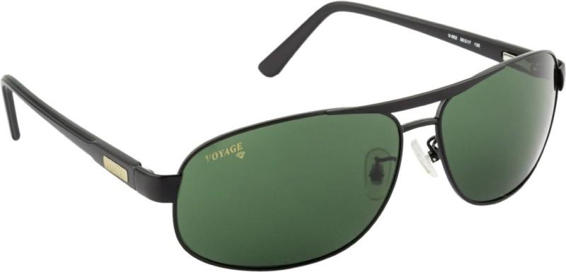 Voyage Rectangular Sunglasses(Green) image