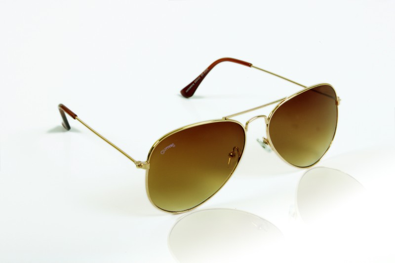 Glitters Aviator Sunglasses(Brown) image.