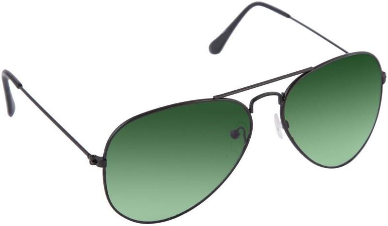 Agera Aviator Sunglasses(Green, Green) image