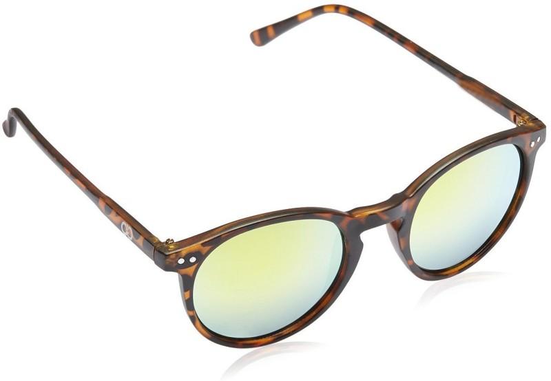 Gio Collection Round Sunglasses(Yellow) image