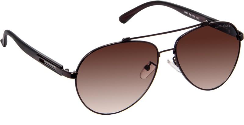 David Blake Aviator Sunglasses(Brown) image