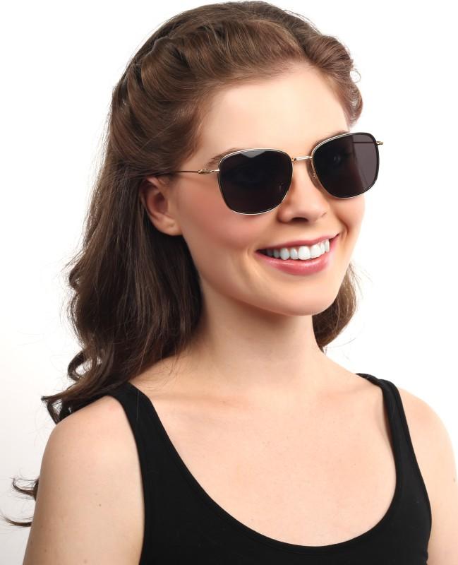 Djorn Rectangular Sunglasses(Grey)