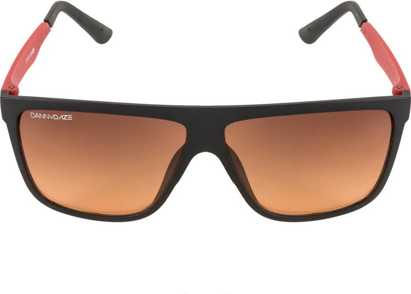 Danny Daze Rectangular Sunglasses(Brown) image